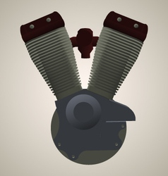 V-twin engine vector