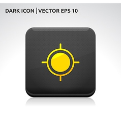 Target aim icon gold vector