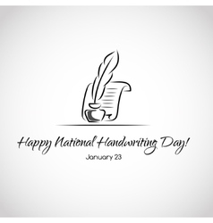 Card for national handwriting day vector