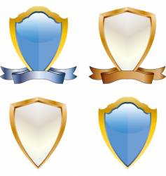 3d shields vector image vector image