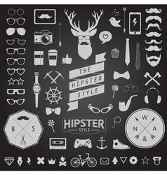 Huge set of vintage styled design hipster icons vector