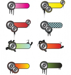 media buttons vector image