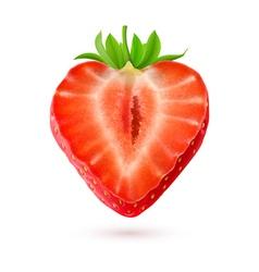 Halftone strawberry vector image