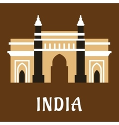 Indian landmark icon charminar mosque vector
