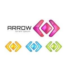 Arrow abstract logo template web or app vector