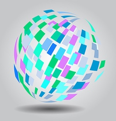 Abstract globe background vector