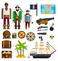 Pirate symbols vector