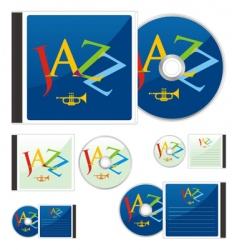 Compact disks with jazz layout vector