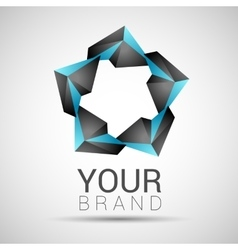 black and turquoise logo concept design vector image