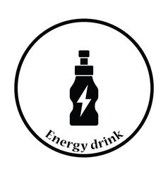 Icon of energy drinks bottle vector