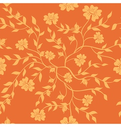 orange texture with plants vector image