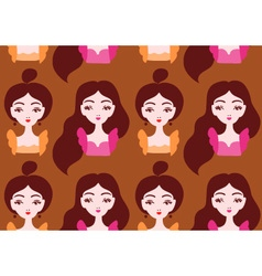 Beautiful girls seamless pattern eps 10 vector image