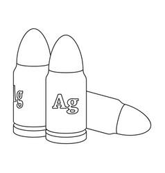 Bullet single icon in outline stylebullet vector