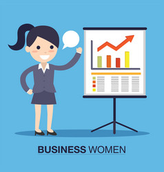 Businesswoman in a presentation vector