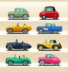 car icon set-6 vector image vector image