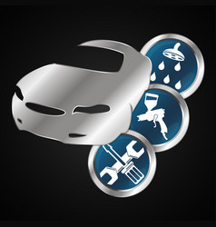Car maintenance design vector