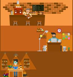 coffee work vector image vector image