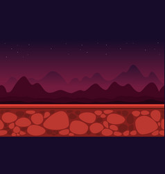 Collection game background cliff landscape vector