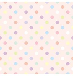 Colorful dots retro vector image
