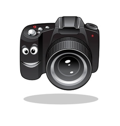 Cute cartoon dslr or digital camera vector