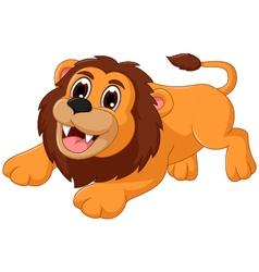 cute lion cartoon smiling vector image vector image