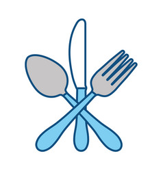 cutlery utensils design vector image vector image