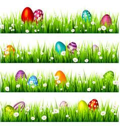 easter egg on the green grass seasonal holidays vector image vector image