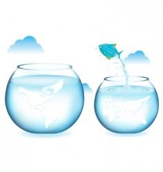 fish jumping vector image