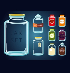 Glass jar set vector