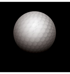 Golf Ball on Black Background vector image vector image
