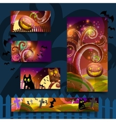 Halloween cards set vector image vector image