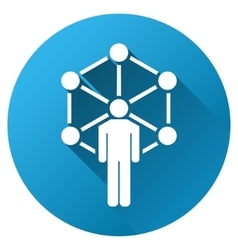 Human network gradient round icon vector