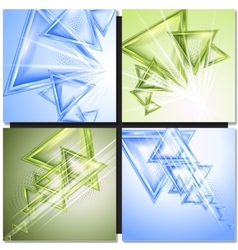 Modern triangle abstract background vector image vector image