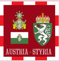 national ensigns of styria - austria vector image