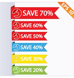 Paper tag label ribbon - - eps10 vector