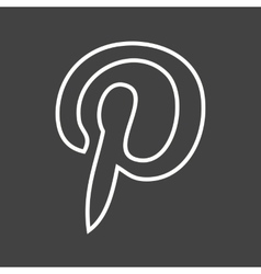 Pinterest vector image