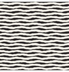 Seamless hand drawn horizontal wavy lines vector