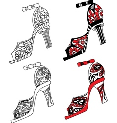 Shoes set vector image vector image