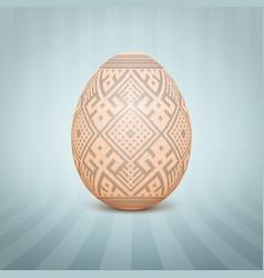 The easter egg with an ukrainian vector