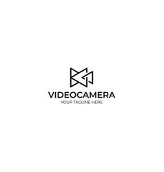 Triangle video camera logo template vector