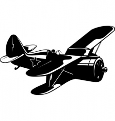 ww2 fighter vector image