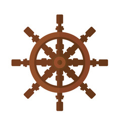 yacht steering wheel icon vector image
