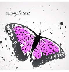 Background with leopard butterfly vector