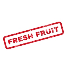 Fresh fruit text rubber stamp vector