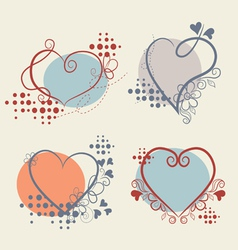 colorful doodle frames vector image