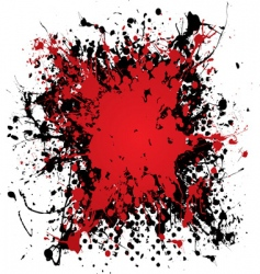 Ink blood splat vector