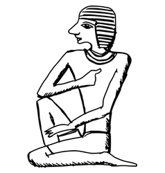 Hieroglyph of ancient egypt vector