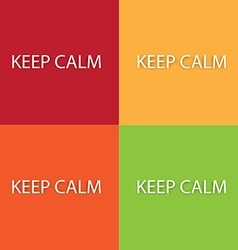Keep calm design elements vector