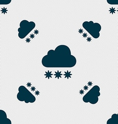 Snow cloud icon sign seamless pattern with vector