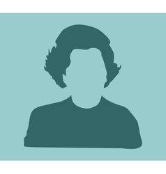 Margaret thatcher simple style silhouette portrait vector